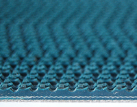 Wave Blue PVC Conveyor Belt 5.0mm